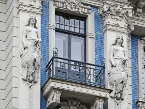 Art Nouveau, Riga.  Photo: dalbera.