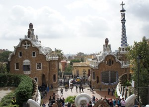 I want to live here:  Fantastic gingerbread houses by Gaudi at Park Guell, Barcelona