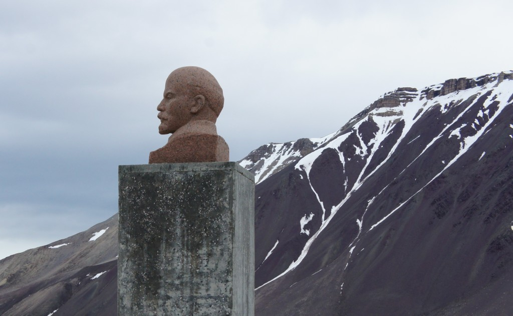 Lenin is still watching over Pyramiden