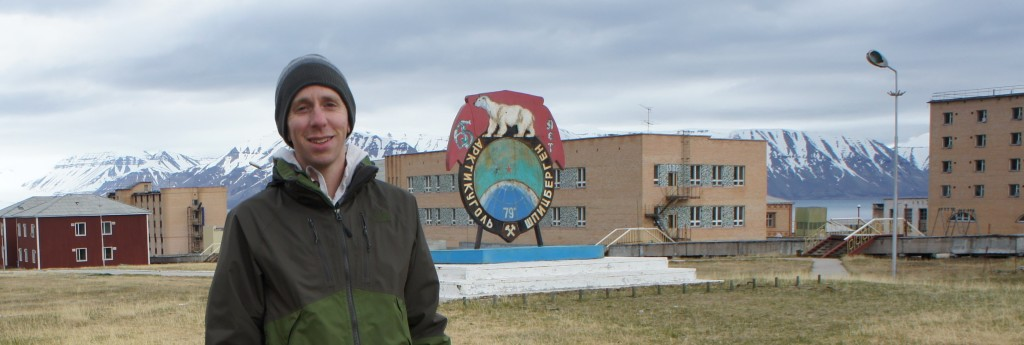 Look, Mom! I'm a college boy now. The Pyramiden Polar Bears.